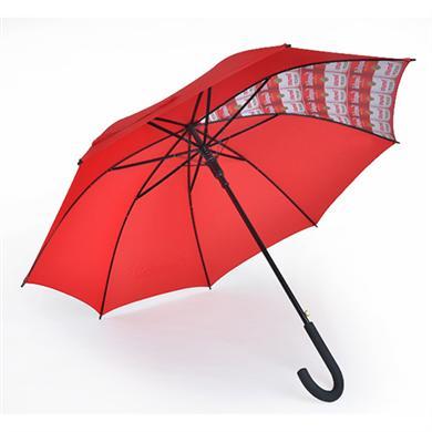 【东莞雨伞厂】27寸双骨防风加固铁槽骨广告伞