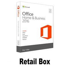 Retail box/office 2016 key microsoft office 2016 Home and Business Key