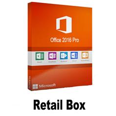 Retail box/office 2016 key microsoft office 2016 Professional Key