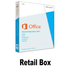 Retail box/office 2013 key Office Home and Business 2013 Key