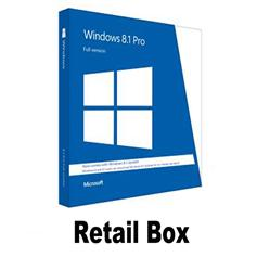 Retail box/windows 8.1 key windows 8.1 pro Key