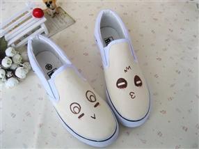 男女手绘鞋-手绘帆布鞋-创意鞋子