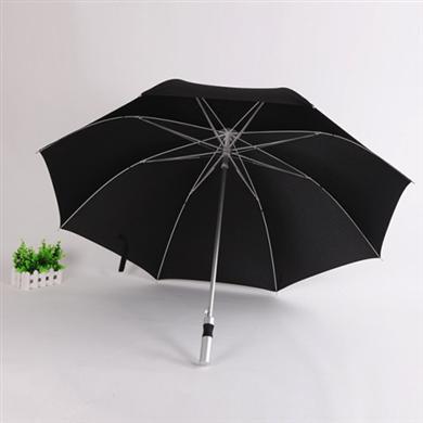【雨伞厂家】27寸铝中棒纤维骨广告高尔夫雨伞定制