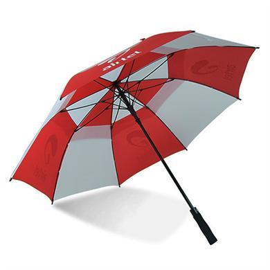 【雨傘廠家】30寸雙層全纖維高爾夫廣告雨傘制作