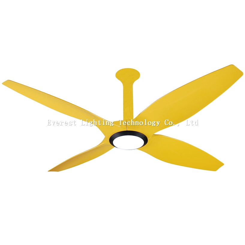 60 Dc Motor Ceiling Fans With Led Light Yellow