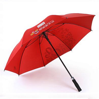 雨傘廠家定做27寸全玻纖高爾夫廣告傘