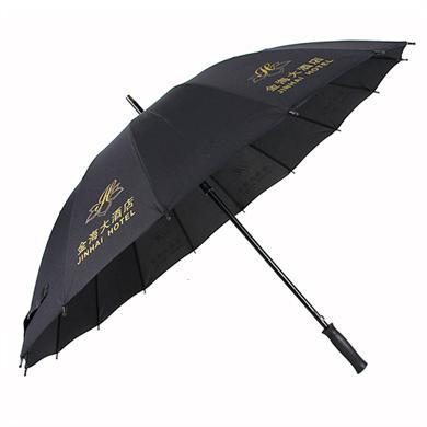 【佛山雨傘廠】27寸16骨超大防風高爾夫廣告雨傘