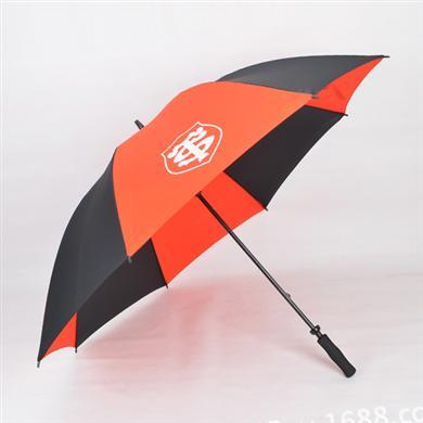 雨伞厂家直销27寸全纤维手开广告高尔夫伞