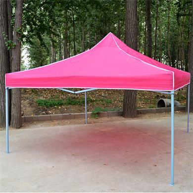 【帐篷厂家】3M*3M烤白漆铁架折叠广告帐篷
