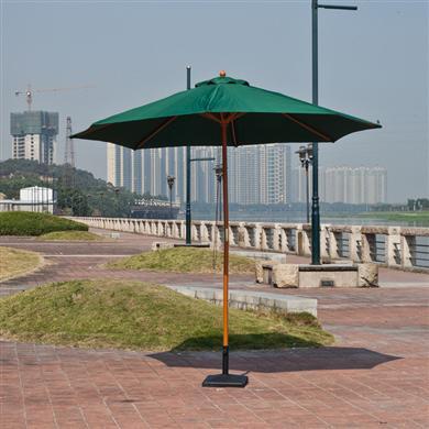 珠海雨伞厂供应双顶仿木伞 中柱伞 仿木纹太阳伞 手摇伞 花园伞 庭院伞