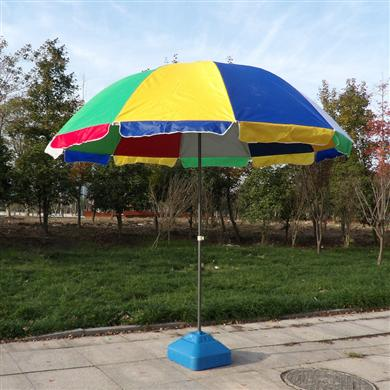 中山雨伞厂家定做彩虹广告太阳伞