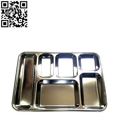 特厚歐式快餐盤(Stainless steel snack plate)ZD-KCP11