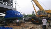 北京西城区离心式冷水机组吊装就位-特灵空调机组