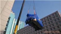 北京昌平区科技园区直燃机组吊装搬运-特灵机组搬运吊装