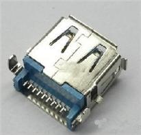USB3.0 A母180度 沉板式芯