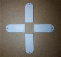 JTRFID3816 NTAG203吊牌标签NFC挂件标签NFC钥匙扣标签