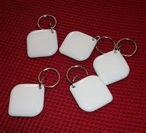JTRFID2828菱形乳白MIFARE1S50水晶钥匙扣ISO14443A协议IC异形卡M1水晶滴胶卡