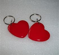 JTRFID4038心形红MIFARE1S50水晶钥匙扣卡ISO14443A协议IC异形卡