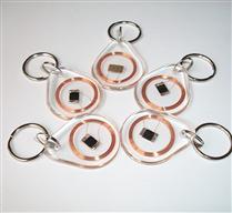 JTRFID4030水滴形透明MIFARE1S50钥匙扣IC异形卡ISO14443A协议M1钥匙扣