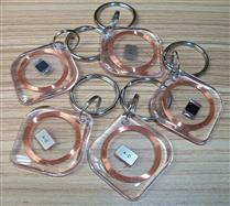 JTRFID2828菱形透明NTAG203水晶钥匙扣ISO14443A协议NFC异形卡NFC水晶滴胶卡
