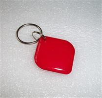 JTRFID2828菱形紅色MIFARE1S50水晶鑰匙扣ISO14443A協議IC異形卡M1水晶滴膠卡