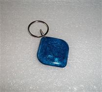 JTRFID2828菱形藍色MIFARE1S50水晶鑰匙扣ISO14443A協議IC異形卡M1水晶滴膠卡