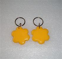 JTRFID3838 梅花形黃色MIFARE1S50芯片IC鑰匙扣M1異形卡IC水晶異形卡