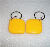 JTRFID2828菱形黃色MIFARE1S50水晶鑰匙扣ISO14443A協議IC異形卡M1水晶滴膠卡