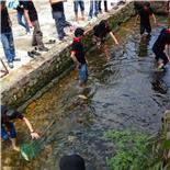 深圳屹石科技海边农家乐杨梅坑一日游溪里抓鱼