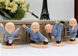 新四款小和尚少林功夫小子 创意树脂礼品 汽车内饰摆件