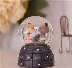 创意 可爱 家居桌面摆件 树脂水晶球