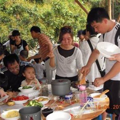 深圳农家乐杨梅坑野炊12-14人套餐