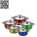 10件庄套锅(10-piece Stainless Steel Cookware Set)ZD-TZG121