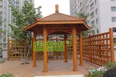 平凉世纪花园六角凉亭