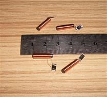JTRFID 15.5*3.8MM圆柱形TK4100/EM4100芯片焊接线圈125KHZ低频ID裸标签
