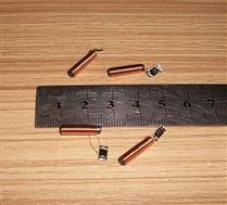 JTRFID 15.5*3.8MM圆柱形134.2KHZ低频ID可反复擦写EM4305芯片焊接线圈ID可读可写芯片
