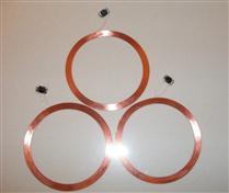 JTRFID 40MM直徑TK4100/EM4100芯片焊接線圈125KHZ低頻ID裸標簽