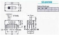 供应拨动开关SS-24D02G2、G3、G4
