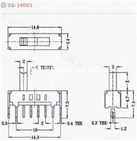 供应拨动开关SS-14D01G2、G3、G4