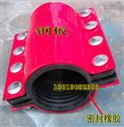 鋼制哈夫節,塑料管用碳鋼哈夫節堵漏器DN100