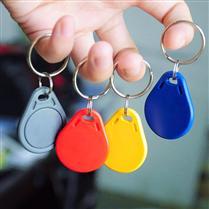 JTRFID002 UID可改写IC卡MIFARE1S50可IC卡复制卡钥匙扣13.56MHZ高频ISO14443A协议IC异形卡M1钥匙扣卡