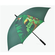 【深圳雨伞厂】全纤维热转印高尔夫广告伞   深圳太阳伞厂家  深圳雨伞定制