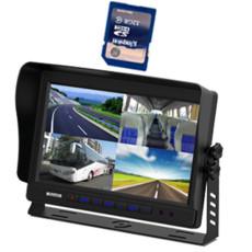 7 inch CS-S1019TMQ-DVR 10.1 inch car quad monitor built in DVR system
