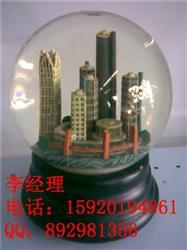 树脂建筑模型水晶球摆件