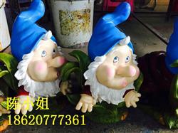 卡通树脂人物小矮人 园林景观雕塑摆件批发