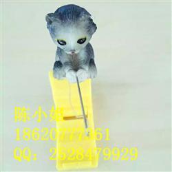 厂家直销树脂小猫钓鱼创意摆件 树脂工艺品 鱼缸装饰品
