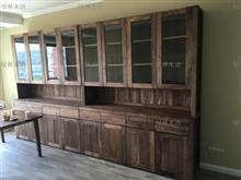 北美黑胡桃木书柜定制黑胡桃木蜡油书柜定制黑胡桃木蜡油家具