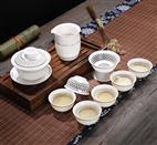 10头蜂巢金线玲珑茶具HZM-1003