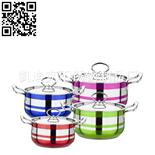 8件套钢线柄银彩锅(8-piece Stainless Steel Cookware Set)ZD-TZG123