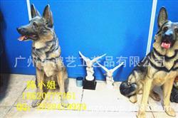 狼狗雕塑摆件 树脂动物工艺品 园艺家居看门猎犬大狼狗